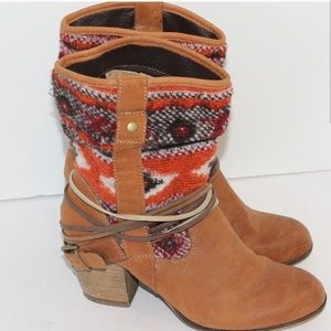Steve Madden southwestern cowboy ankle boots 7.5